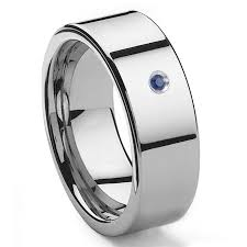 10mm ring tungsten carbide sapphire 10mm flat men s wedding band ring