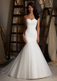 fishtail wedding dress morilee madeline gardner bridal asymmetrically draped net wedding