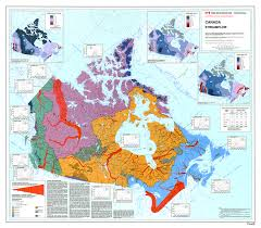 Newfoundland Canada Map by Canadian Watersheds And Major Rivers By Ccin Map Canada