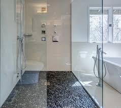 ideas for bathroom flooring tight pebble shower floor for contemporary bathroom flooring