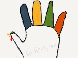 trace your hand and make it into an exotic turkey usa kids did