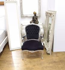 French Style Armchairs Uk Vintage Retro Shabby Chic French Louis Xv Style Chair With Black