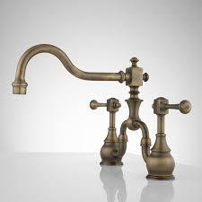 Antique Brass Kitchen Faucet Antique Brass Kitchen Faucet With Sprayer Archives Htsrec