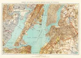 Maps Of New York by New York City Map 1893 Map Of New York Newark Brooklyn Vintage