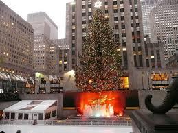 christmas tree in rockefeller center new york city lucky 2b here