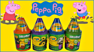 amazing i can grow crayola flower pots w peppa pig and george