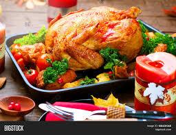 dinner roasted turkey on image photo bigstock
