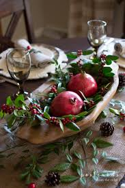 Rustic Christmas Centerpieces - natural rustic christmas table postcards from the ridge