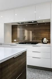 kitchen splashbacks ideas splashback clear glass timber veneer cleaf ciliegio