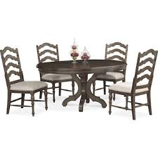 Table And Chairs Dining Room Shop 5 Piece Dining Room Sets Value City Furniture And Mattresses