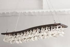Ochre Lighting Contemporary Chandelier Glass Nickel Bronze Arctic Pear