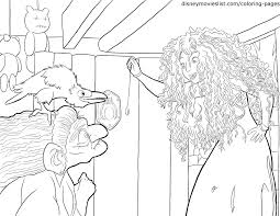 merida with witch coloring page disney u0027s brave