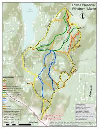 Map Maine Maine By Foot Lowell Preserve Windham