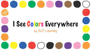the colors song by elf learning color songs for kindergarten