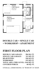 apartments single car garage plans single car detached garage