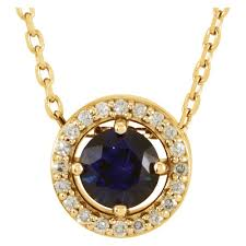 sapphire necklace with diamonds images Blue sapphire necklace with diamond halo j m jewelry jpg