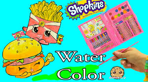 shopkins art set marker u0026 water color fast food picture painting