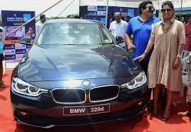 bmw car pic mithali raj presented bmw car in hyderabad the hindu