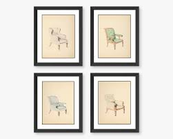 Framed Art For Dining Room by Chair Wall Art Prints 4 Piece Framed Wall Set Dining Room Decor