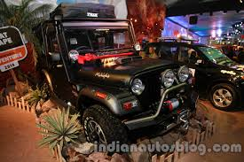 mahindra thar modified seating auto expo 2014 mahindra thar midnight edition showcased