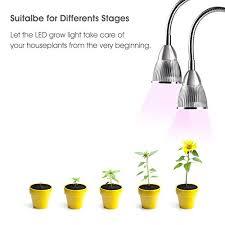 best light for plants dual head led plant grow light 10w 360 flexible indoor grow light