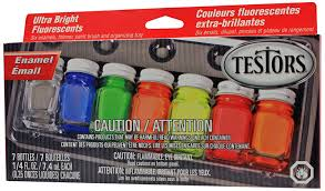 amazon com testors enamel paint set fluorescent arts crafts