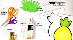 pineapple craft for kids u2013 male kindergarten teacher