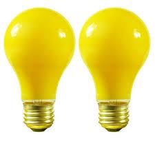 bug light light bulbs satco s3939 100 watt yellow bug light