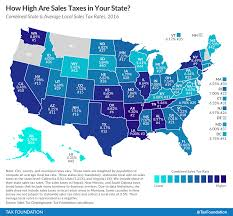 Chicago United States Map by State And Local Sales Tax Rates In 2016 Tax Foundation