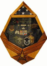 Triangle Flag Case Custom Made Military Display Cases Air Force Symbol Display Cases