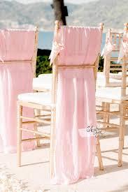 blush chair sashes white chiffon chair sash rhinestone band arcadia designs