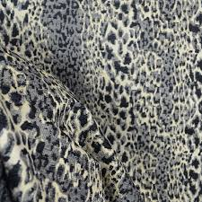Black Drapery Fabric Purrfect Graphite Grey Black Chenille Animal Print Fabric