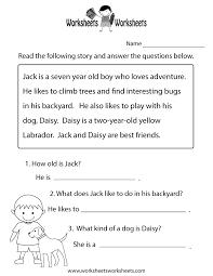 reading comprehension practice worksheet printable joys of