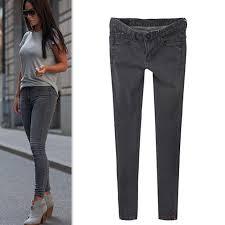 alibaba jeans com buy 2015 women stretch jeans slim skinny denim grey gradient