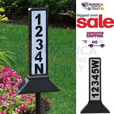 solar address sign light plaque stake led lighted house number