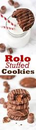 delicious rolo stuffed cookies