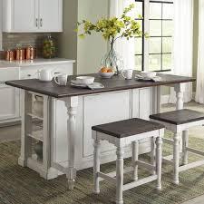 kitchen island wood top august grove almira kitchen island with wood top reviews wayfair