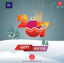 happy new year 2017 greeting card by waqasali201 codecanyon