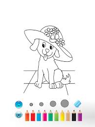 puppy love coloring book fun2draw kid paint express apps 148apps