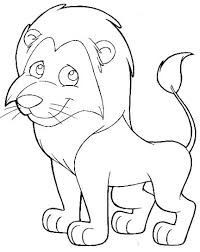 cartoon lion coloring pages getcoloringpages