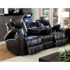 Black Leather Sofa Recliner Reclining Living Room Sets You Ll