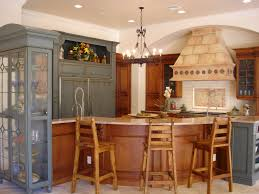 Tuscan Kitchen Islands by Kitchen Style Rustic Kitchens Distressed Cabinets Terracota