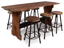 Rustic Bistro Table And Chairs Stylish Rustic Bistro Table And Chairs With Cabo 7 Counter