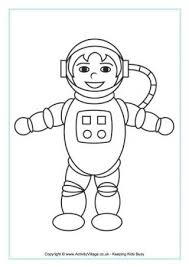 astronaut coloring page space colouring pages