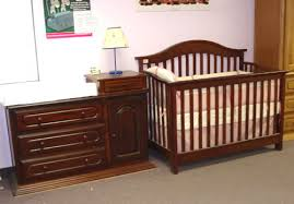 crib dresser changing table combo sets best classic design brown