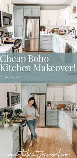how to fit a kitchen cheaply diy kitchen makeover on a budget modern farmhouse style