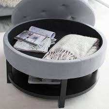 amazon com belham living coffee table storage ottoman with shelf