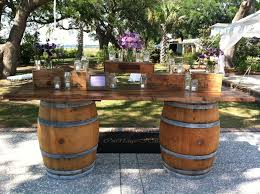 whiskey barrel bar table be creative with used wine barrels barrel bar design attractive
