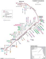 Muni Bus Map San Francisco Trolley Map Offically Called