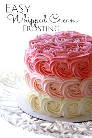 rosette ombre cake with whipped cream frosting that is super easy